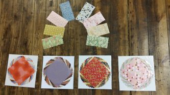 Japanskt papper i origamistorlek